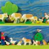 Holzspielzeug - Bauernhof