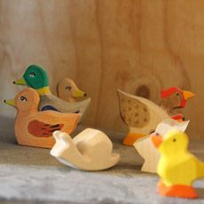 Holzspielzeug Enten