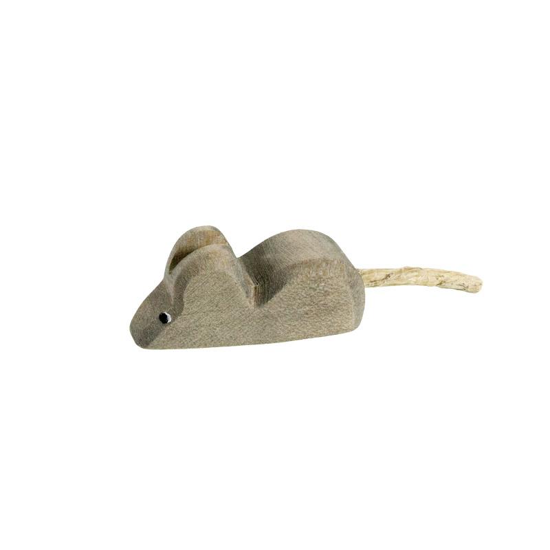 Maus aus holz holzspielzeug bauernhof for Spielfiguren basteln