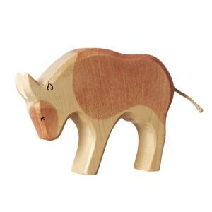 Holzspielzeug Stier (helles Fell)