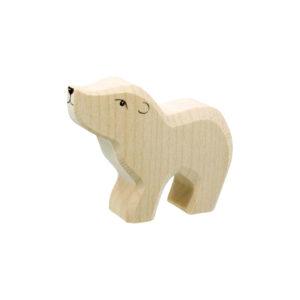 Holzspielzeug - Eisbärkind (Kopf hoch)
