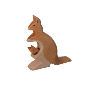 Holzspielzeug - Känguru-Mutter