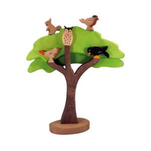 Holzspielzeug - Vogelbaum