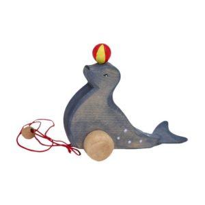 Holzspielzeug - Zieh-Seehund