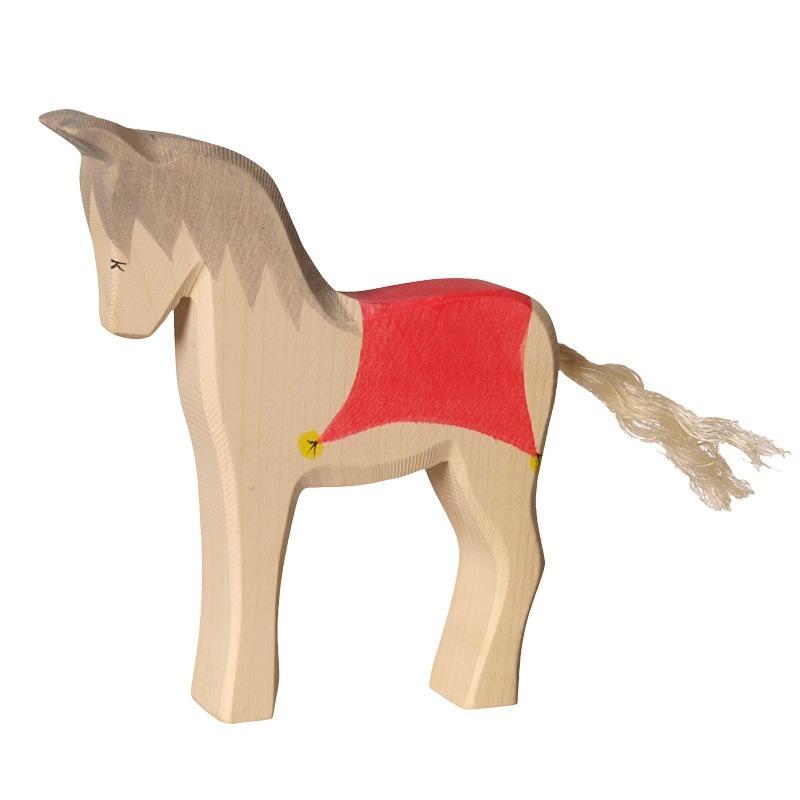 pferd mit sattel aus holz holzspielzeug weihnachten. Black Bedroom Furniture Sets. Home Design Ideas