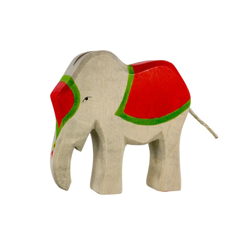 elefant mit sattel aus holz holzspielzeug weihnachten. Black Bedroom Furniture Sets. Home Design Ideas