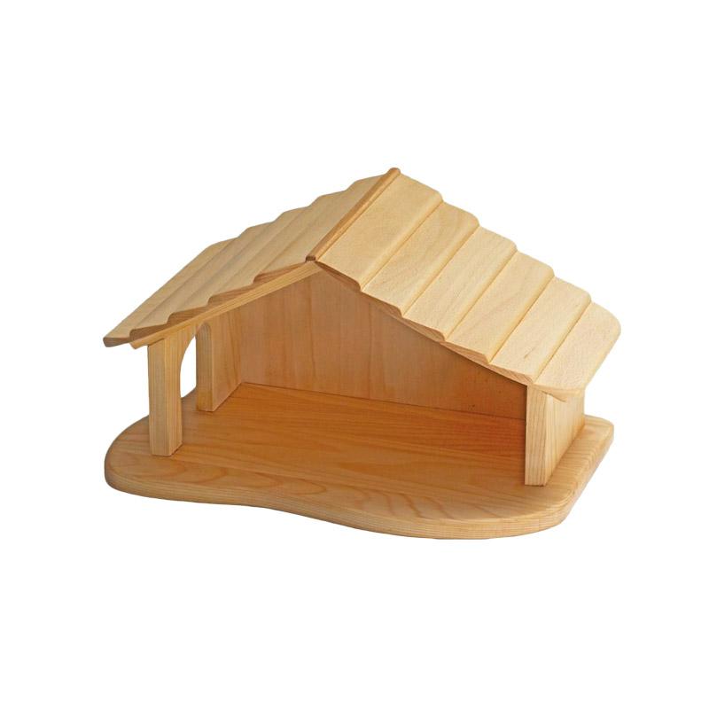 krippenstall bauernhof aus holz holzspielzeug weihnachten. Black Bedroom Furniture Sets. Home Design Ideas