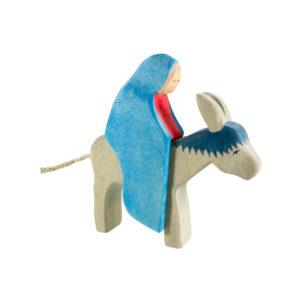 Holzspielzeug - Maria mit Esel