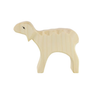 Holzspielzeug - Schaf (weiß, Kopf oben)