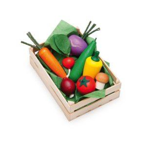 Holzspielzeug - Sortimentkiste Spiel-Gemüse für Kaufladen (Firma Ertzi)