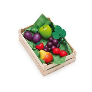 Holzspielzeug - Sortimentkiste Spiel-Obst für Kaufladen (Firma Ertzi)