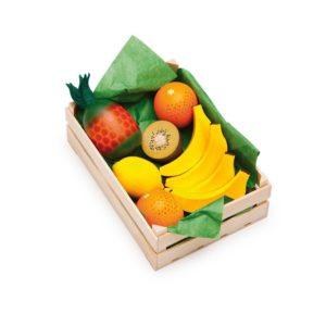 Holzspielzeug - Sortimentkiste Südfrucht für Kaufladen (Firma Ertzi)