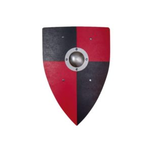 Holzspielzeug - Ritterschild (rot) (Firma Vah)
