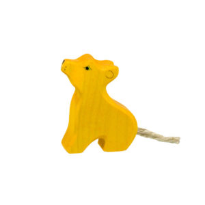 Holzspielzeug - Löwenkind (sitzend)