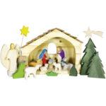 Holzspielzeug - Weihnachtskrippe im 16-tlg Set