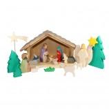 Holzspielzeug - Weihnachts-Krippe