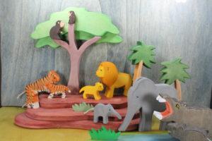 Zootiere aus Holz