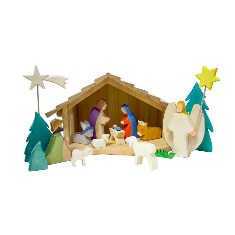 weihnachtskrippe aus holz holzspielzeug weihnachten. Black Bedroom Furniture Sets. Home Design Ideas