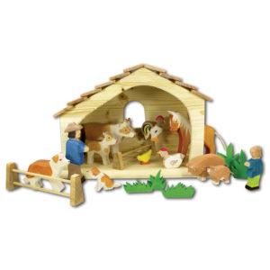 Holzspielzeug - Bauernhofset