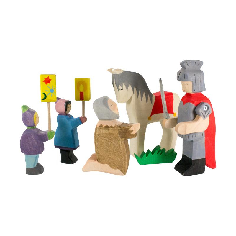 St martin set aus holz holzspielzeug advent for Spielfiguren basteln