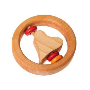 Holzspielzeug – Baby-Rassel (kleines Herz)