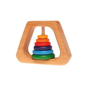 Holzspielzeug – Baby-Rassel & Beißring Pyramide