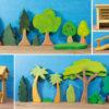 Holzspielzeug - Bäume und Büsche