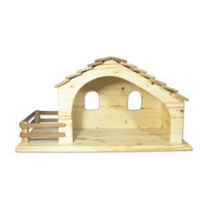 Holzspielzeug - Stall/Krippe mit Zaun