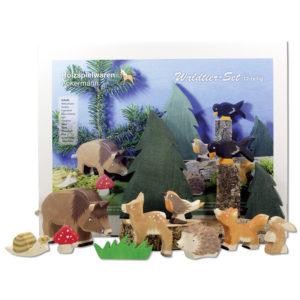 Holzspielzeug - Waldtiere im 12-teiligen Set